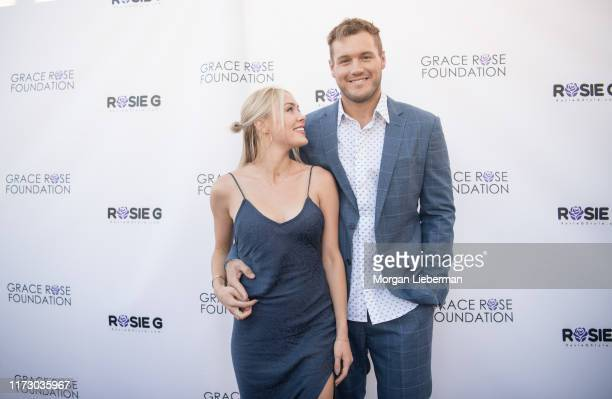 Cassie Randolph and Colton Underwood arrive at the 16th Annual Grace Rose Foundation Fashion Show Fundraiser at SLS Hotel on September 07 2019 in...