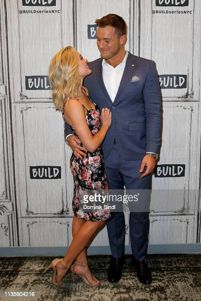 Cassie Randolph and Colton Underwood attend the Build Series to discuss 'The Bachelor' at Build Studio on March 13 2019 in New York City
