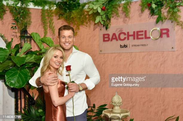 Cassie Randolph and Colton Underwood attend Tubi NewFront event on May 01 2019 in New York City