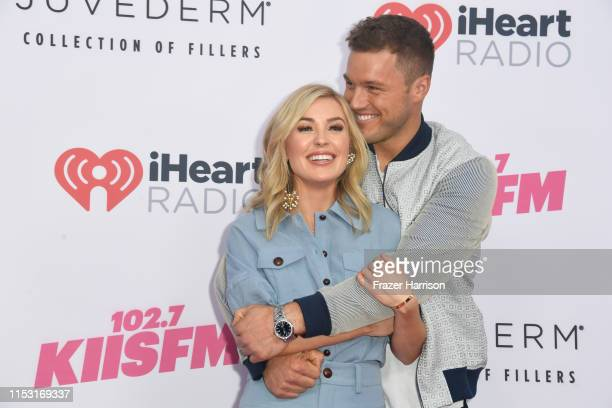 Cassie Randolph and Colton Underwood attends 2019 iHeartRadio Wango Tango presented by The JUVÉDERM® Collection of Dermal Fillers at The Dignity...