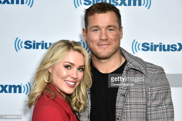 Cassie Randolph and Colton Underwood visit SiriusXM Studios on May 1 2019 in New York City