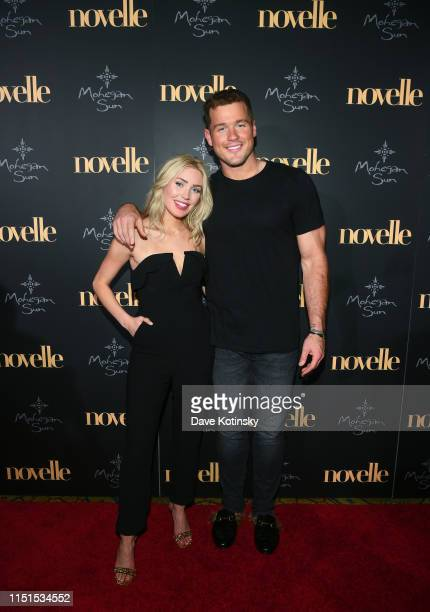 Cassie Randolph and Colton Underwood walk the red carpet at the official grand opening party for Mohegan Sun's new ultralounge novelle on Saturday...