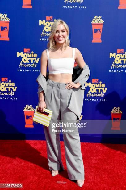 Cassie Randolph attends the 2019 MTV Movie and TV Awards at Barker Hangar on June 15 2019 in Santa Monica California