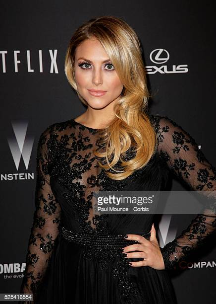 Cassie Scerbo arrives at the Weinstein Company Golden Globes AfterParty