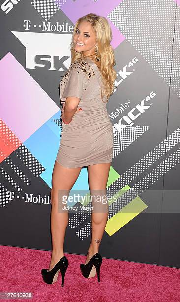 Cassie Scerbo arrives for the TMobile Sidekick 4G launch celebration in a Private Lot on April 20 2011 in Beverly Hills California