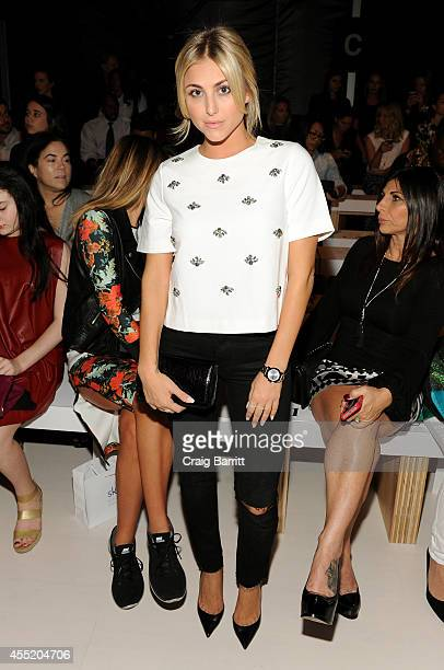Cassie Scerbo attends the Erin Fetherston fashion show during MercedesBenz Fashion Week Spring 2015 at The Salon at Lincoln Center on September 10...
