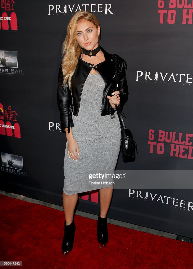 Cassie Scerbo attends the launch of '6 Bullets To Hell' on May 10, 2016 in Los Angeles, California.