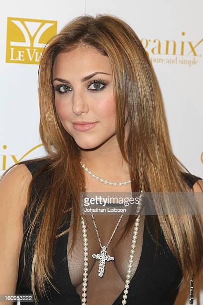 Cassie Scerbo attends the OK Magazine PreGRAMMY Party at Sound on February 7 2013 in Hollywood California