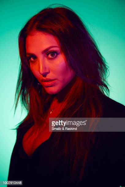 Cassie Scerbo from Syfy's 'The Last Sharknado It's About Time' poses for a portrait at the Getty Images Portrait Studio powered by Pizza Hut at San...