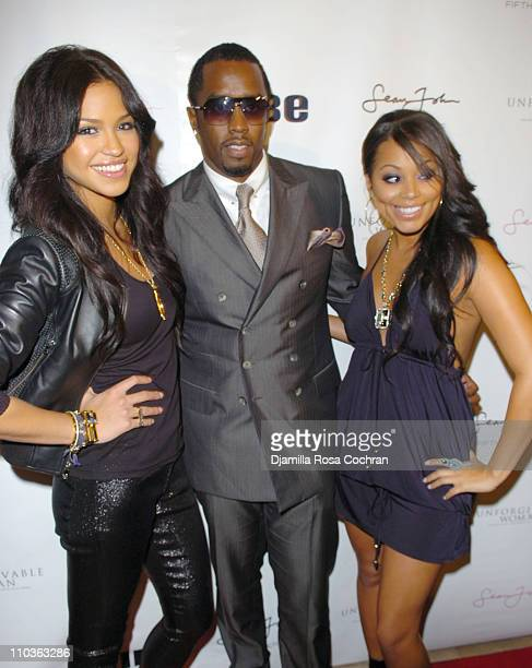 Cassie Sean Diddy Combs and Lauren London attend the Sean John Women's launch party hosted by Cassie and London at the Sean John flagship store...