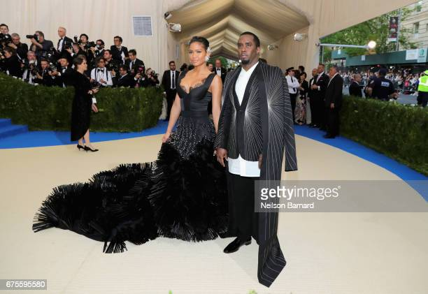 Cassie Sean 'Diddy' Combs attend the 'Rei Kawakubo/Comme des Garcons Art Of The InBetween' Costume Institute Gala at Metropolitan Museum of Art on...