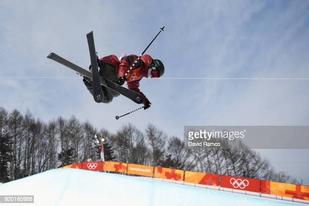 Cassie Sharpe of Canada competes during the Freestyle Skiing Ladies' Ski Halfpipe Qualification on day 10 of the PyeongChang 2018 Winter Olympic...