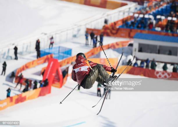 Cassie Sharpe of Canada during the women's Halfpipe Freestyle Skiing at Phoenix Snow Park on February 20 2018 in Pyeongchanggun South Korea