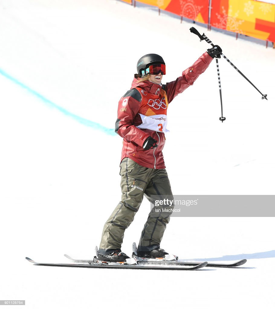Cassie Sharpe of Canada is seen during the Women's Halfpipe final at Phoenix Snow Park on February 20, 2018 in Pyeongchang-gun, South Korea.
