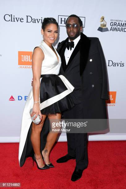 Cassie Ventura and recording artist Sean 'Diddy' Combs attend the Clive Davis and Recording Academy PreGRAMMY Gala and GRAMMY Salute to Industry...