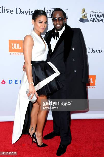 Cassie Ventura and recording artist Sean Diddy Combs attend the Clive Davis and Recording Academy PreGRAMMY Gala and GRAMMY Salute to Industry Icons...