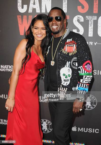 Cassie Ventura and Sean Combs arrive at the Los Angeles Premiere Of 'Can't Stop Won't Stop' at Writers Guild of America West on June 21 2017 in Los...