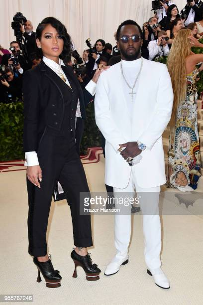 Cassie Ventura and Sean Combs attend the Heavenly Bodies Fashion The Catholic Imagination Costume Institute Gala at The Metropolitan Museum of Art on...
