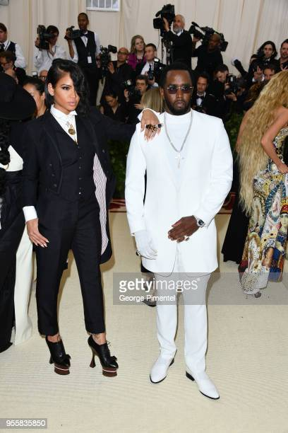 Cassie Ventura and Sean Combs attend the Heavenly Bodies Fashion The Catholic Imagination Costume Institute Gala at Metropolitan Museum of Art on May...