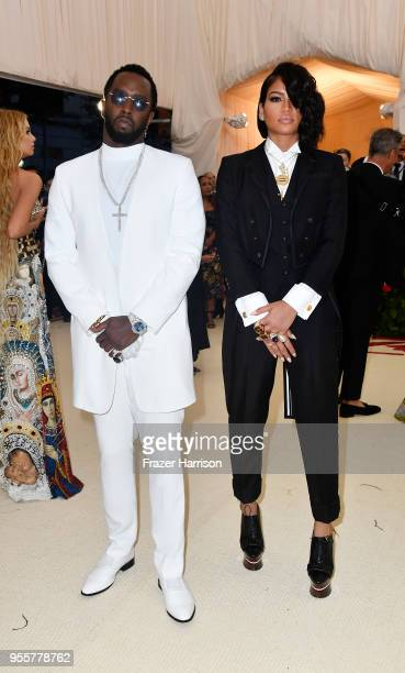 Cassie Ventura and Sean 'Diddy' Combs attend the Heavenly Bodies Fashion The Catholic Imagination Costume Institute Gala at The Metropolitan Museum...