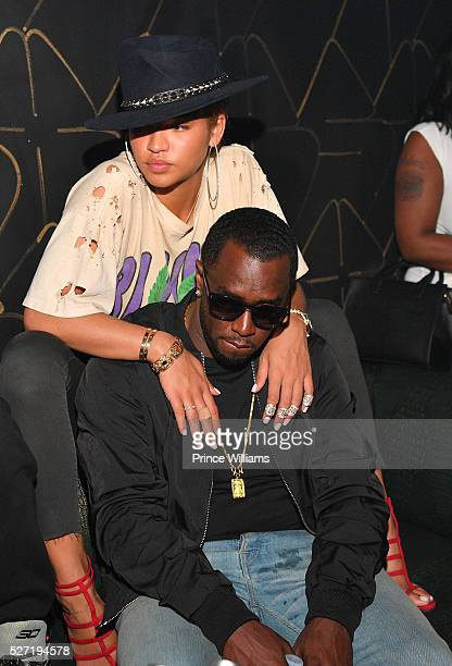 Cassie Ventura and Sean 'Diddy' Combs attend XS Lounge on May 1 2016 in Atlanta Georgia