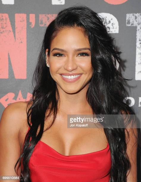 Cassie Ventura arrives at the Los Angeles Premiere Of Can't Stop Won't Stop at Writers Guild of America West on June 21 2017 in Los Angeles California