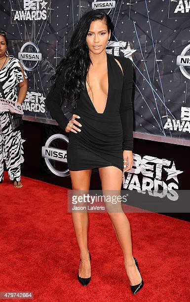 Cassie Ventura attends the 2015 BET Awards at the Microsoft Theater on June 28 2015 in Los Angeles California