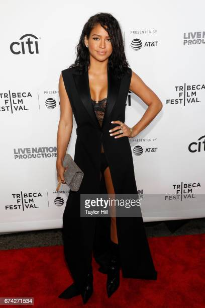 Cassie Ventura attends the 'Can't Stop Won't Stop' premiere during the 2017 Tribeca Film Festival at Beacon Theatre on April 27 2017 in New York City