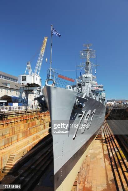 USS Cassin Young in Boston Shipyard