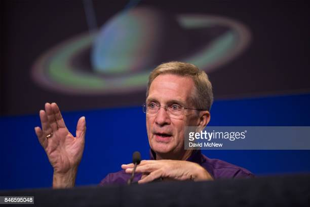 Cassini Project Manager Earl Maize speaks at a news conference at Jet Propulsion Laboratory as NASA's Cassini spacecraft nears the end of its 20year...