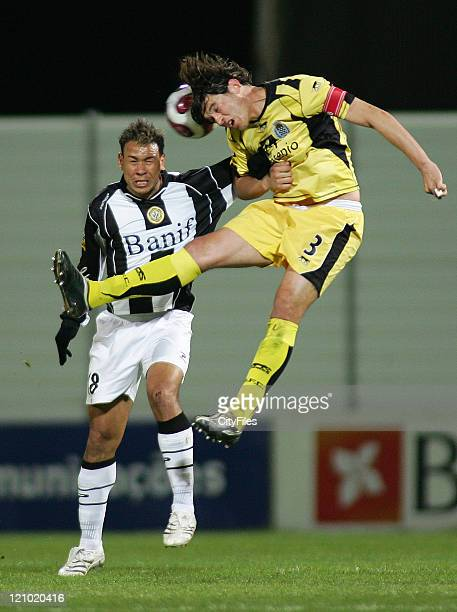 Cassio and Ricardo Silva during the Portuguese League match between Nacional da Madeira and Boavista in Funchal Portugal on March 16 2007
