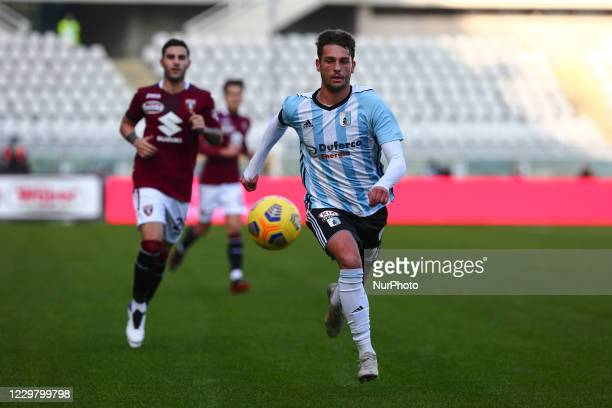 Cassio Cardoselli of Virtus Entella during the Tim Cup football match between Torino FC and Virtus Entella at Olympic Grande Torino Stadium on...