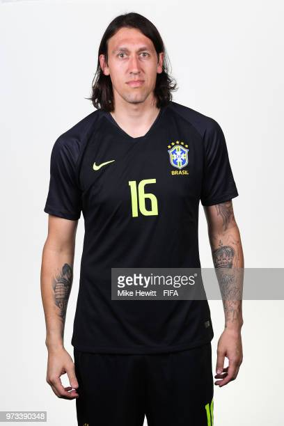 Cassio of Brazil poses for a portrait during the official FIFA World Cup 2018 portrait session at the Brazil Team Camp on June 12 2018 in Sochi Russia