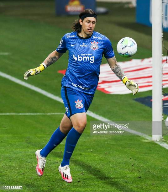 Cassio of Corinthians in action during the match against Palmeiras as part of Brasileirao Series A at Neo Quimica Arena on September 10, 2020 in Sao...