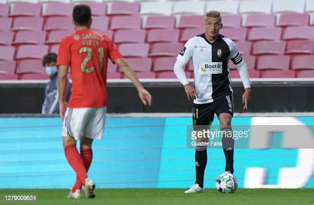 Cassio Scheid of SC Farense in action during the Liga NOS match between SL Benfica and SC Farense at Estadio da Luz on October 4, 2020 in Lisbon,...
