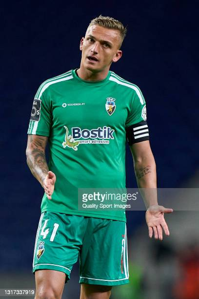 Cassio Scheid of SC Farense reacts during the Liga NOS match between FC Porto and SC Farense at Estadio do Dragao on May 10, 2021 in Porto, Portugal....
