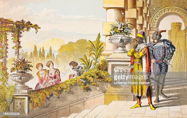 Cassio Speaks In Othello Act Iii Scene Iii By William Shakespeare Madam I'll Take My Leave Drawn And Etched By Robert Dudley From The Illustrated...