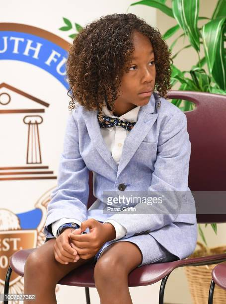 Cassius Brown attends the Proclamation to Bobby Brown To Honor the Bobbi Kristina Serenity House at South Fulton City Hall on July 30 2018 in City of...