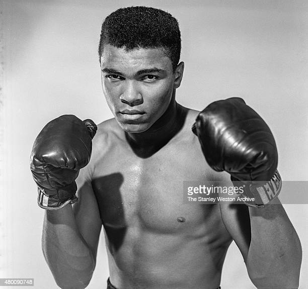 Cassius Clay 20 year old heavyweight contender from Louisville Kentucky poses for the camera on May 17 1962 in Bronx New York NO COMMERCIAL SALES NOT...