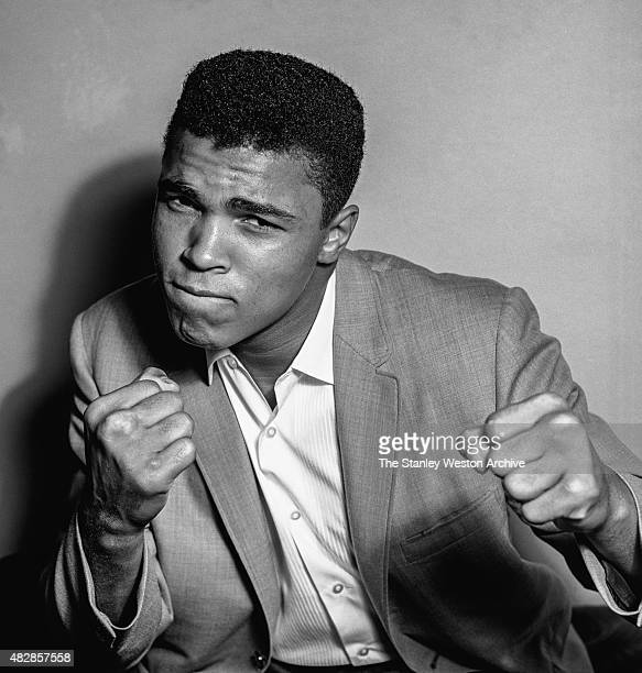 Cassius Clay, 20 year old heavyweight contender from Louisville, Kentucky poses for the camera on May 17, 1962 in Bronx, New York.