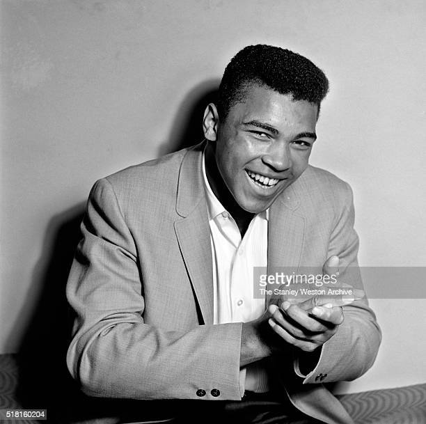 Cassius Clay 20 year old heavyweight contender from Louisville Kentucky poses for the camera on May 17 in Long Island New York