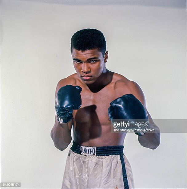 Cassius Clay, 20 year old heavyweight contender from Louisville, Kentucky poses for the camera on May 17 in Bronx, New York.