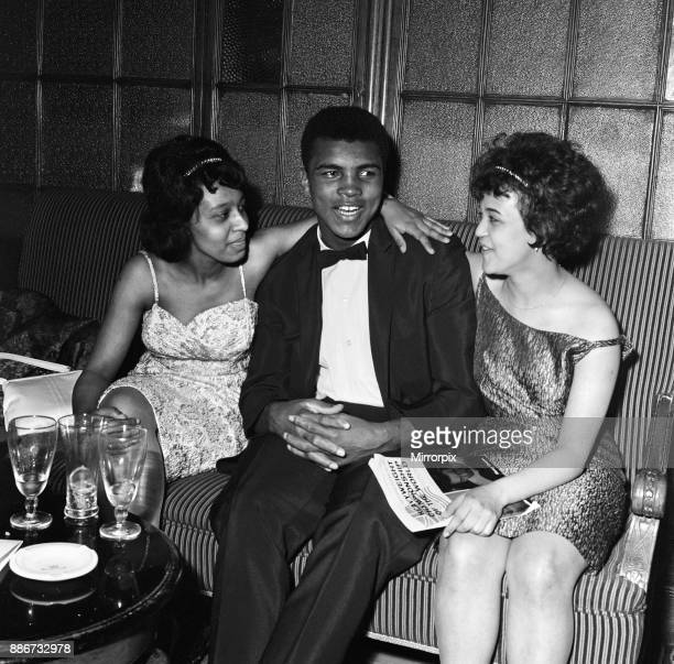 Cassius Clay aka pictured at the Piccadilly Hotel after beating Britain's Henry Cooper at Wembley Stadium 19th June 1963