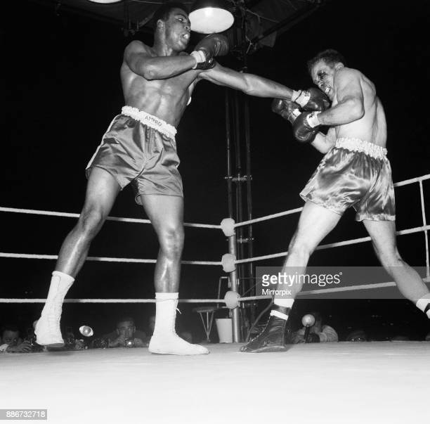 Cassius Clay aka vs Henry Cooper in their first fight at Wembley Stadium Clay stopped Cooper in the 5th round 18th June 1963