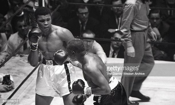 Cassius Clay and Doug Jones exchange blows during their heavyweight bout at Madison Square Garden New York New York March 13 1963
