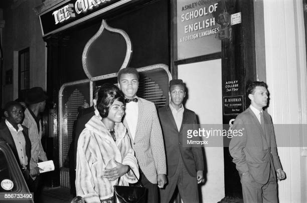 Cassius Clay and entourage in London's west end ahead of his nontitle fight against Henry Cooper at Wembley Stadium 27th May 1963