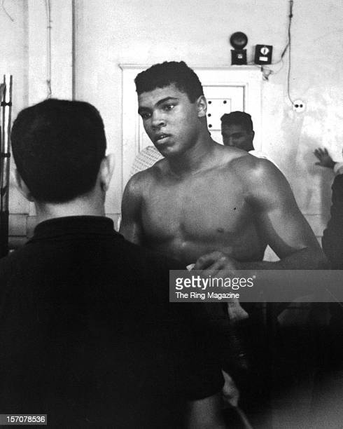 Cassius Clay gets ready to train at the Main Street Gym in October 1962 in Los AngelesCalifornia