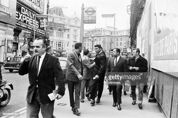 Cassius Clay on his way to a press conference ahead of his rematch with Henry Cooper 19th May 1966