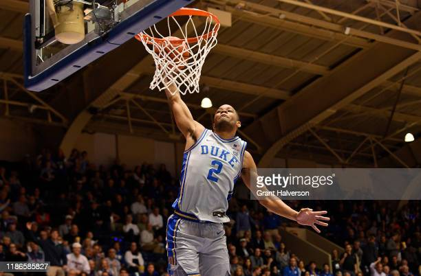 Cassius Stanley of the Duke Blue Devils dunks against the Colorado State Rams during their game at Cameron Indoor Stadium on November 08 2019 in...