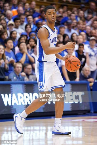Cassius Stanley of the Duke Blue Devils during the second half during their game against the Georgia State Panthers at Cameron Indoor Stadium on...